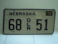 2004 NEBRASKA Dealer License Plate 68 DLR 51