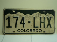 COLORADO License Plate 174 LHX