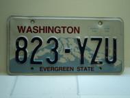 Washington Evergreen State License Plate 823 YZU