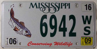 2009 Jun Mississippi Fish Wildlife License Plate
