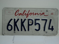CALIFORNIA Lipstick License Plate 6KKP574