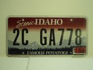 2012 IDAHO Scenic Famous Potatoes License Plate 2C GA778