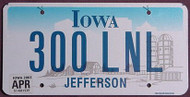 Iowa Flat Farm Scene License Plates