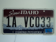 2010 IDAHO Scenic Famous Potatoes License Plate 1A VC033