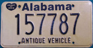 Alabama Antique Vehicle License Plate  157787 HOD