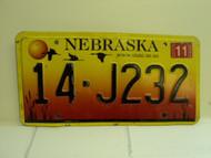 2005 NEBRASKA License Plate 14 J232