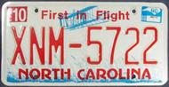 2008 Oct North Carolina License Plate XNM-5722