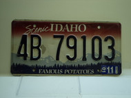 2001 IDAHO Famous Potatoes License Plate 4B 79103