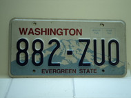 Washington Evergreen State License Plate 882 ZUO