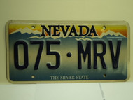 NEVADA Silver State License Plate 075 MRV