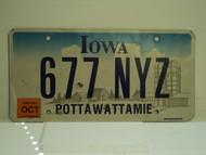 2006 IOWA License Plate 677 NYZ