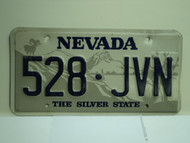 NEVADA Silver State License Plate 528 JVN