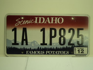 2011 IDAHO Scenic Famous Potatoes License Plate 1A 1P825