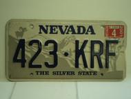 2001 NEVADA Silver State License Plate 423 KRF