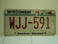 WISCONSIN America's Dairyland License Plate WJJ 591