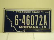 2010 MONTANA Treasure State License Plate 6 46072A