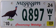 2009 Oct Mississippi Wildlife License Plate Turkey