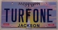 Mississippi Vanity License Plate TURFONE