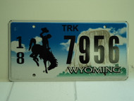 WYOMING Bucking Bronco Devils Tower Truck License Plate 18 7956 1