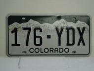COLORADO License Plate 176 YDX