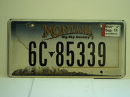 2011 MONTANA Big Sky Country License Plate 6C 85339