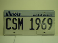 ILLINOIS Land of Lincoln Vanity License Plate CSM 1969