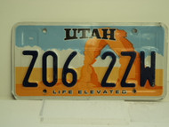 UTAH Life Elevated License Plate Z06 2ZW