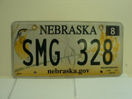 2013 NEBRASKA .GOV Western Meadowlark License Plate SMG 328 1