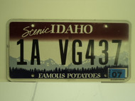 2010 IDAHO Scenic Famous Potatoes License Plate 1A VG437