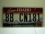 2012 IDAHO Scenic Famous Potatoes License Plate 8B CN181