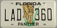 Florida Panther License Plate LAD 360