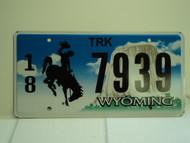 WYOMING Bucking Bronco Devils Tower Truck License Plate 18 7939