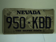 NEVADA Silver State License Plate 950 KBD