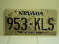 NEVADA Silver State License Plate 953 KLS