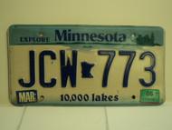2005 MINNESOTA Explore 10,000 Lakes License Plate JCW 773