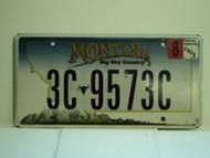 2009 MONTANA Big Sky Country License Plate 3C 9573C
