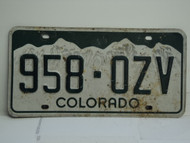 COLORADO License Plate 958 OZV