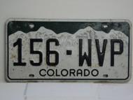 COLORADO License Plate 156 WVP