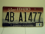 2005 IDAHO Famous Potatoes License Plate 4B A1477