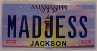Mississippi Vanity License Plate MADJESS