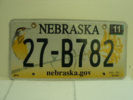 2013 NEBRASKA .GOV Western Meadowlark License Plate 27 B782 1