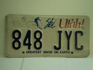 UTAH SKI Greatest Snow on Earth License Plate 848 JYC
