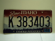 2010 IDAHO Scenic Famous Potatoes License Plate K 383403
