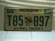 1998 OKLAHOMA Commercial Truck License Plate T85 897