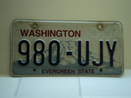 Washington Evergreen State License Plate 980 UJY