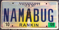 2008 Oct Mississippi NAMABUG License Plate