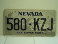 NEVADA Silver State License Plate 580 KZJ