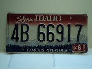 2006 IDAHO Famous Potatoes License Plate 4B 66917