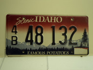 IDAHO Famous Potatoes License Plate 4B 132