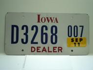 2007 IOWA Dealer License Plate  D877 007